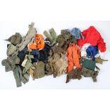 A Large Quantity of Vintage OriginalAction Man uniforms, Accessories & Dolls
