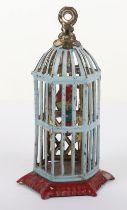 Scarce Early Meier Tinplate Penny Toy Bird Cage