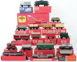 Eighteen Hornby Dublo 00 Gauge 2-Rail Boxed Rolling Stock