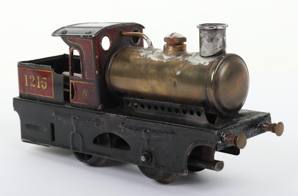 Bing 0 gauge 0-4-0 live steam tank locomotive 1215 - Image 3 of 5