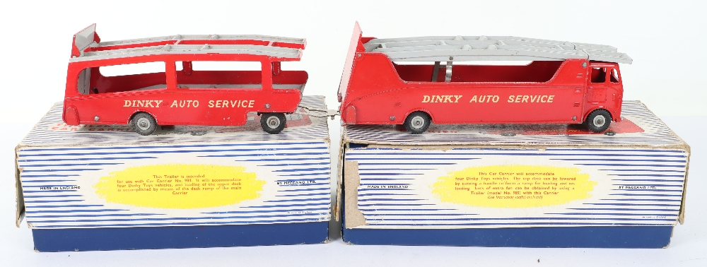 Dinky Toys Boxed 984 Car Carrier and 985 Trailer - Image 3 of 6