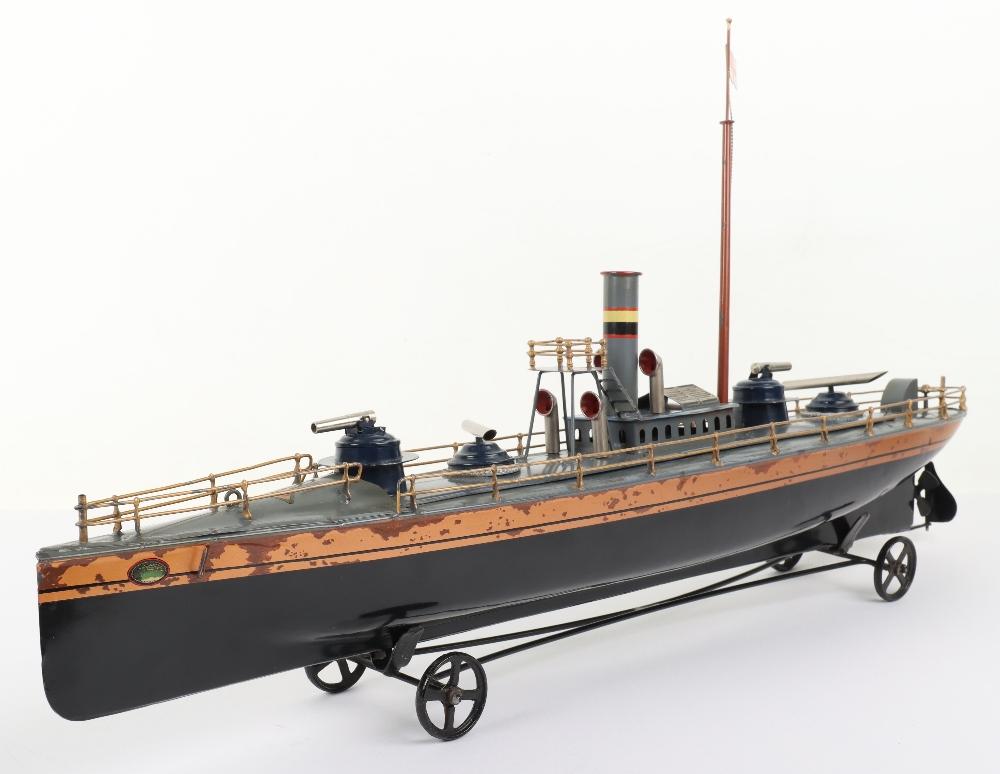 A Bing tinplate clockwork Torpedo boat - Image 7 of 7