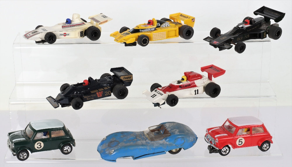 Eight Unboxed Hornby Hobbies Scalextric Slot Cars