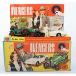 Corgi Toys The Avengers Gift Set 40, containing scarce Steeds Bentley, green body