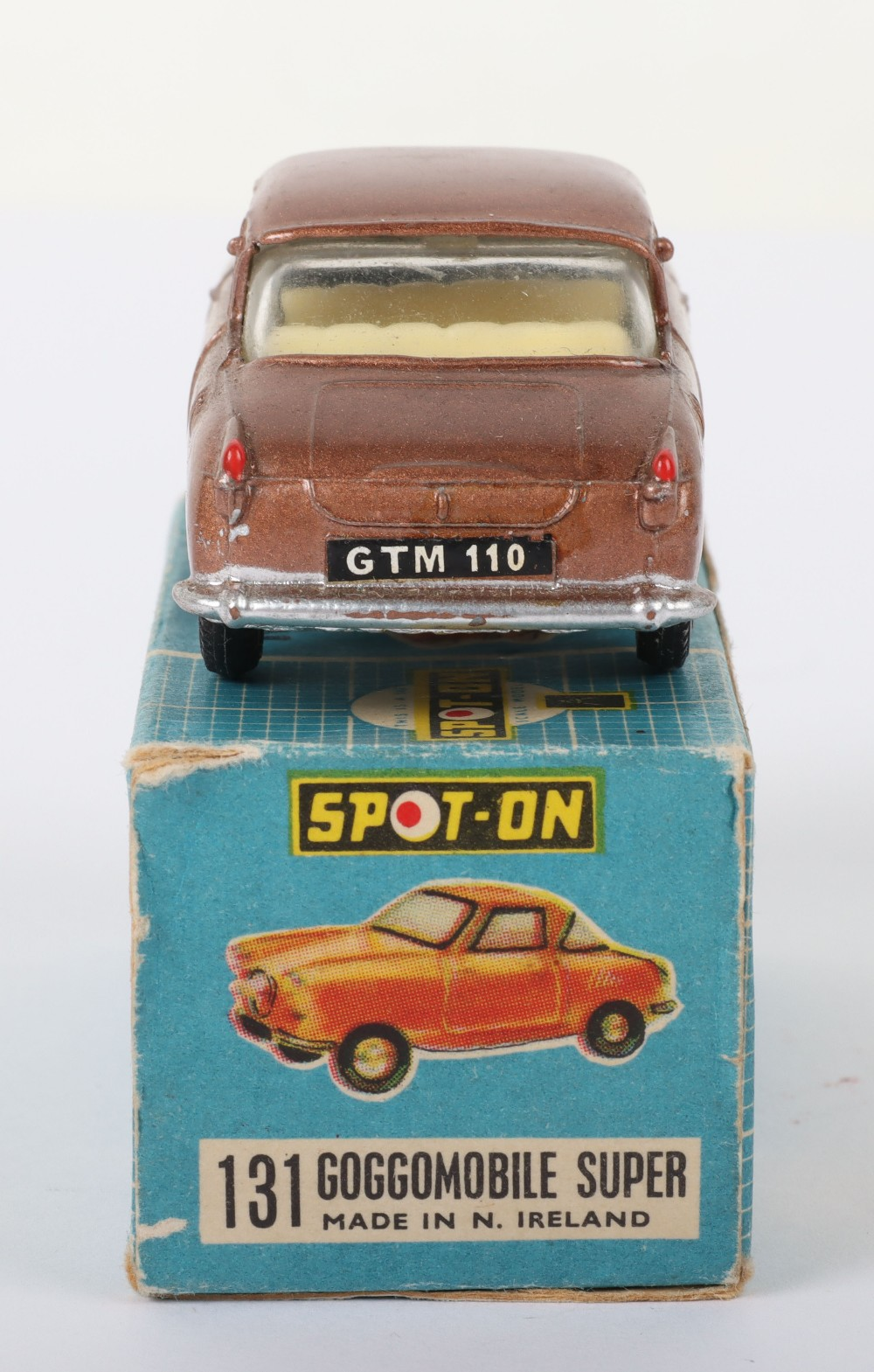Scarce Tri-ang Spot On Model 131 Goggomobile super, Scarce metallic bronze body - Image 6 of 8