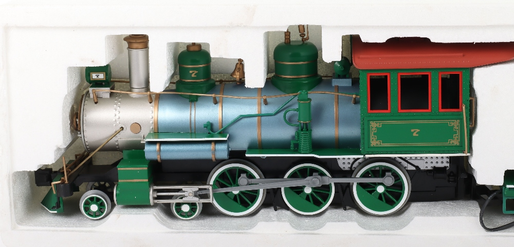 A Bachmann G Scale American Outline Locomotive and Tender - Image 3 of 4