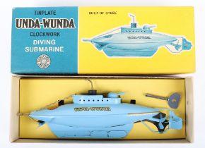 Sutcliffe Unda-Wunda Clockwork Tinplate Diving Submarine