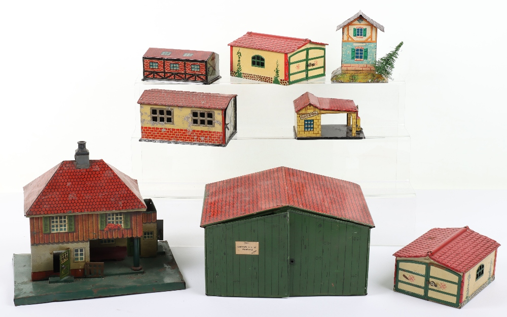 Quantity of German Tinplate Buildings, 00 gauge and larger