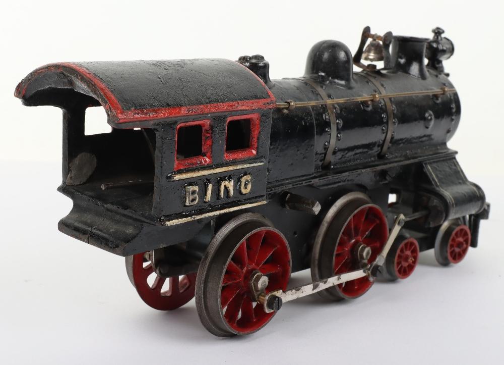 Bing gauge I cast iron 4-4-0 U.S outline clockwork locomotive, German circa 1910 - Image 5 of 5