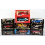 Ten 1:18 scale Diecast boxed model cars