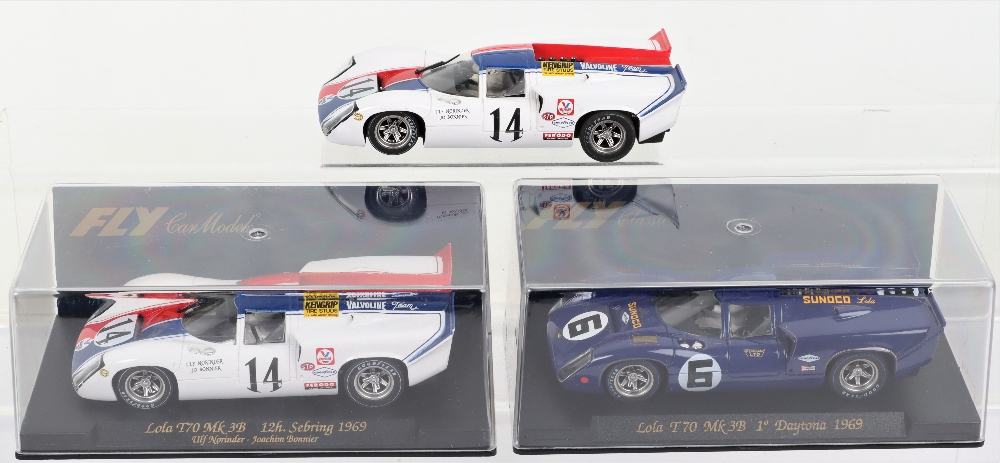Two Boxed Fly Car Model Slot Cars Lola T70