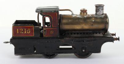 Bing 0 gauge 0-4-0 live steam tank locomotive 1215