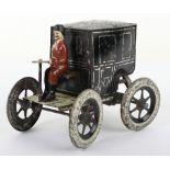 A Gunthermann tinplate clockwork cab, German circa 1900