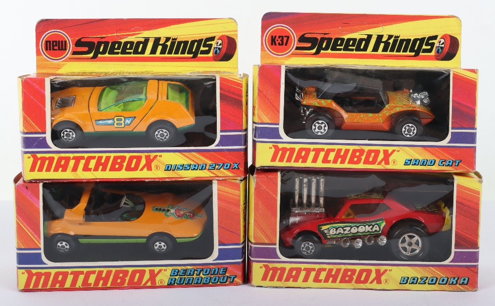 Four Boxed Matchbox Speedkings