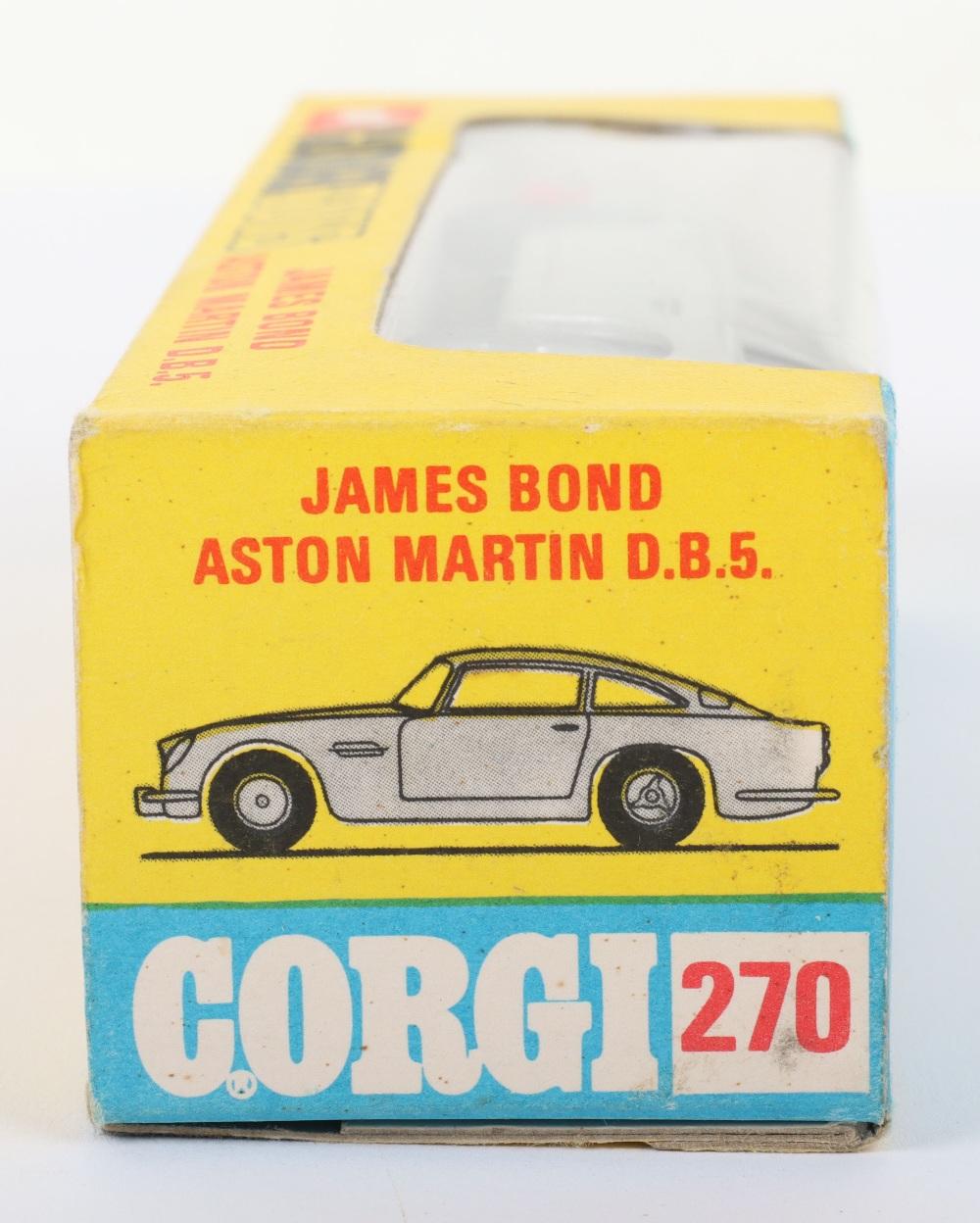 Corgi Toys 270 James Bond Aston Martin slim window box - Image 8 of 8