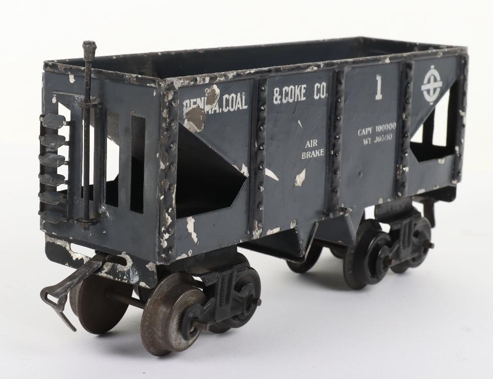 Scarce Bing gauge 0 'Penna. Coal & Coke Co.' eight-wheel bogie wagon, German circa 1914 - Image 2 of 4