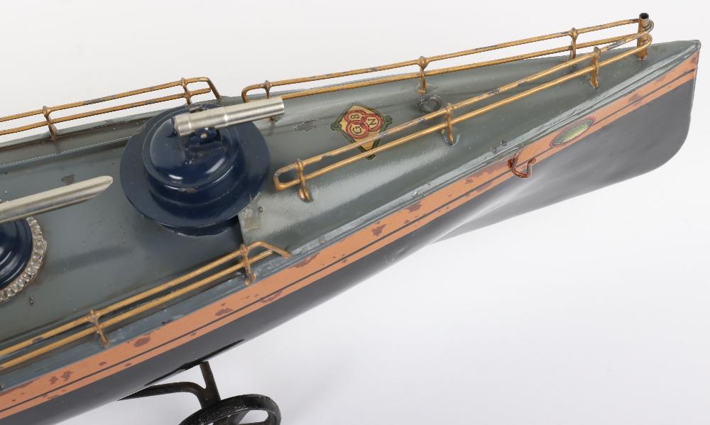 A Bing tinplate clockwork Torpedo boat - Image 3 of 7