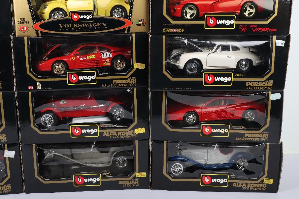 Thirteen Burago 1:18 Scale Die-cast Boxed model cars, - Image 5 of 5