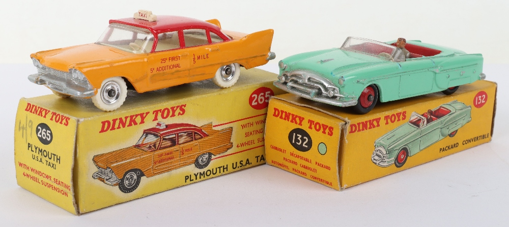 Two Boxed Dinky Toys USA Cars