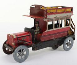 A Scarce Distler (German) Double Decker Tinplate Bus