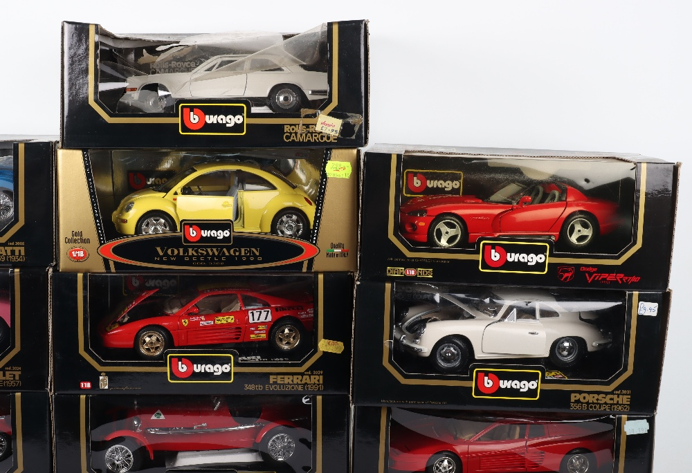 Thirteen Burago 1:18 Scale Die-cast Boxed model cars, - Image 3 of 5