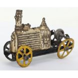 A C.R (Rossignol) pressed tinplate friction driven penny toy of an early locomotive, French circa 19