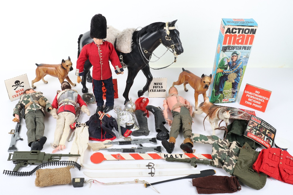 A Large Quantity of Vintage Action Man Dolls, Clothes and equipment