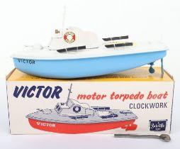 Sutcliffe 'Victor' Motor Torpedo Clockwork Tinplate Boat