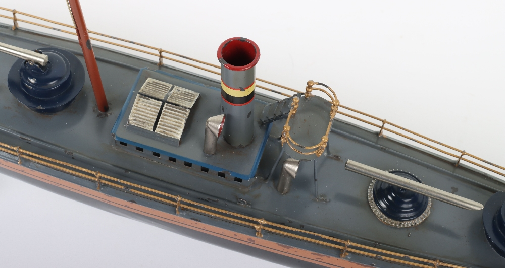 A Bing tinplate clockwork Torpedo boat - Image 5 of 7