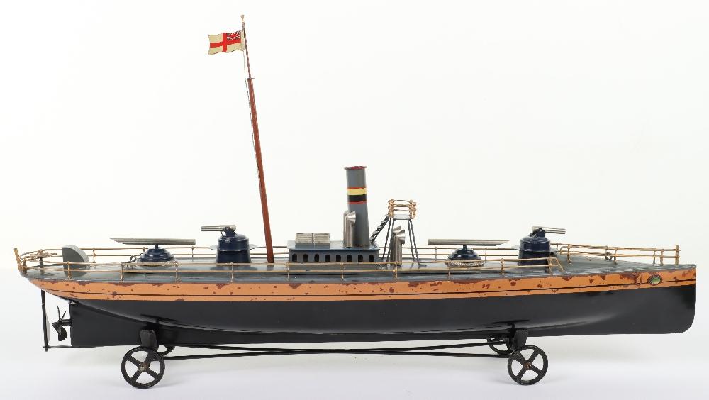 A Bing tinplate clockwork Torpedo boat