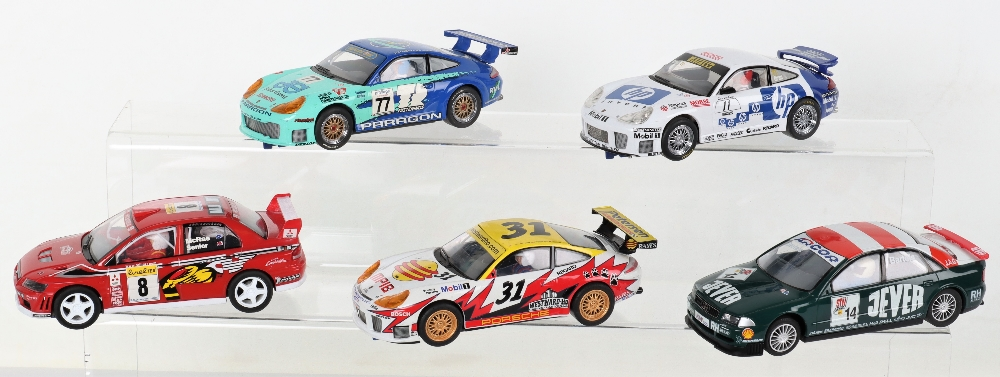 Five Unboxed Scalextric Hornby Slot Cars