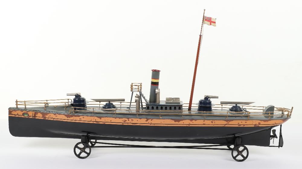A Bing tinplate clockwork Torpedo boat - Image 2 of 7