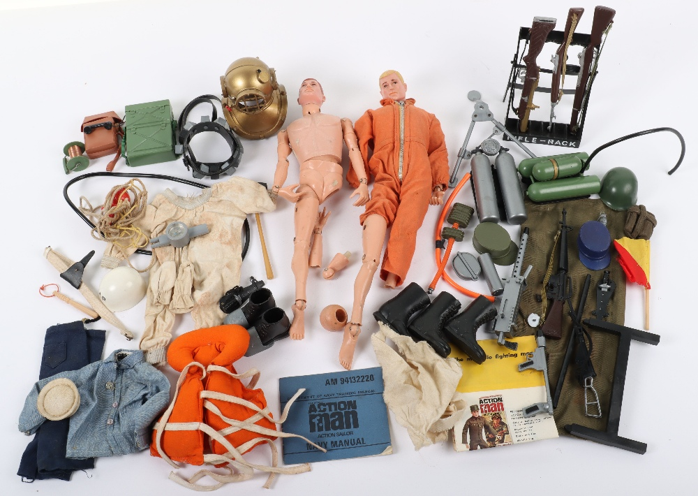 A good Quantity of Vintage Action Man Dolls, Clothes and Accessories