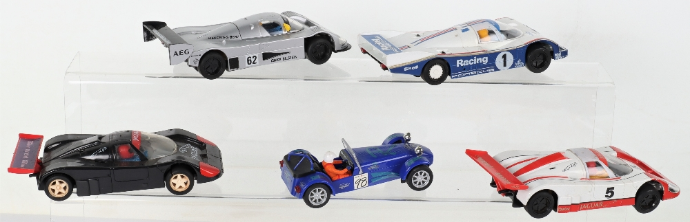 Five Unboxed Scalextric Slot Cars - Image 2 of 3