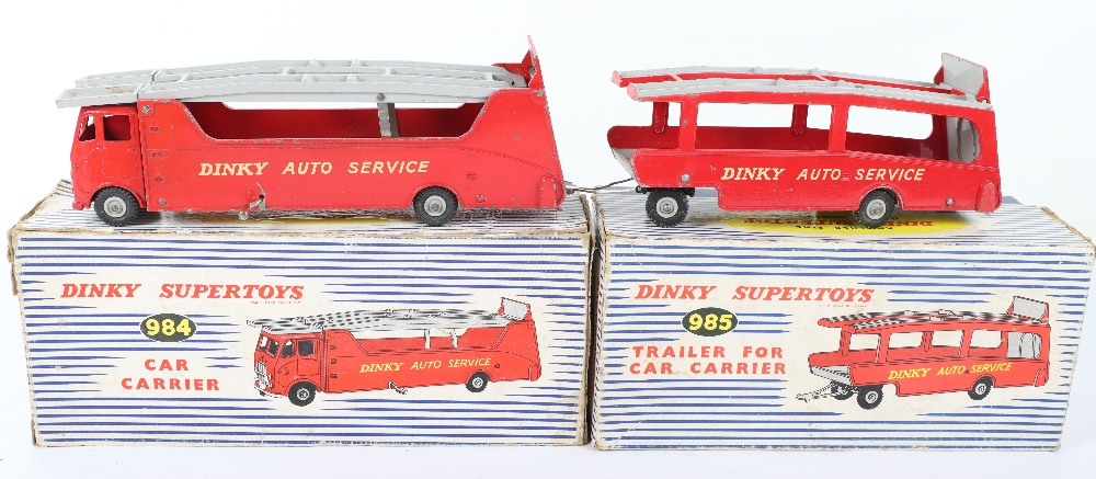 Dinky Toys Boxed 984 Car Carrier and 985 Trailer - Image 2 of 6