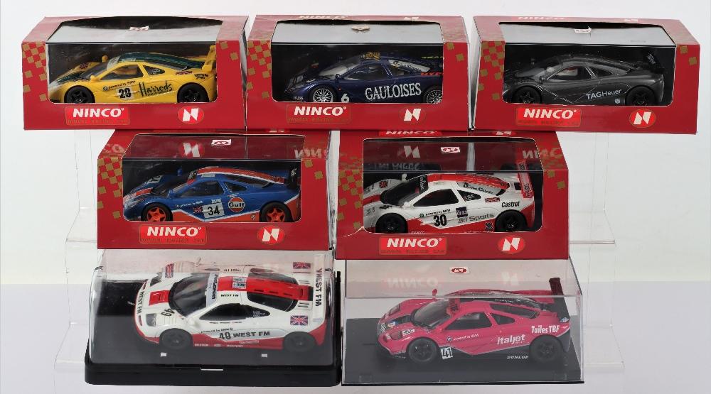 Six Boxed Ninco Slot Cars,