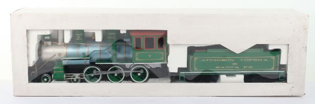A Bachmann G Scale American Outline Locomotive and Tender