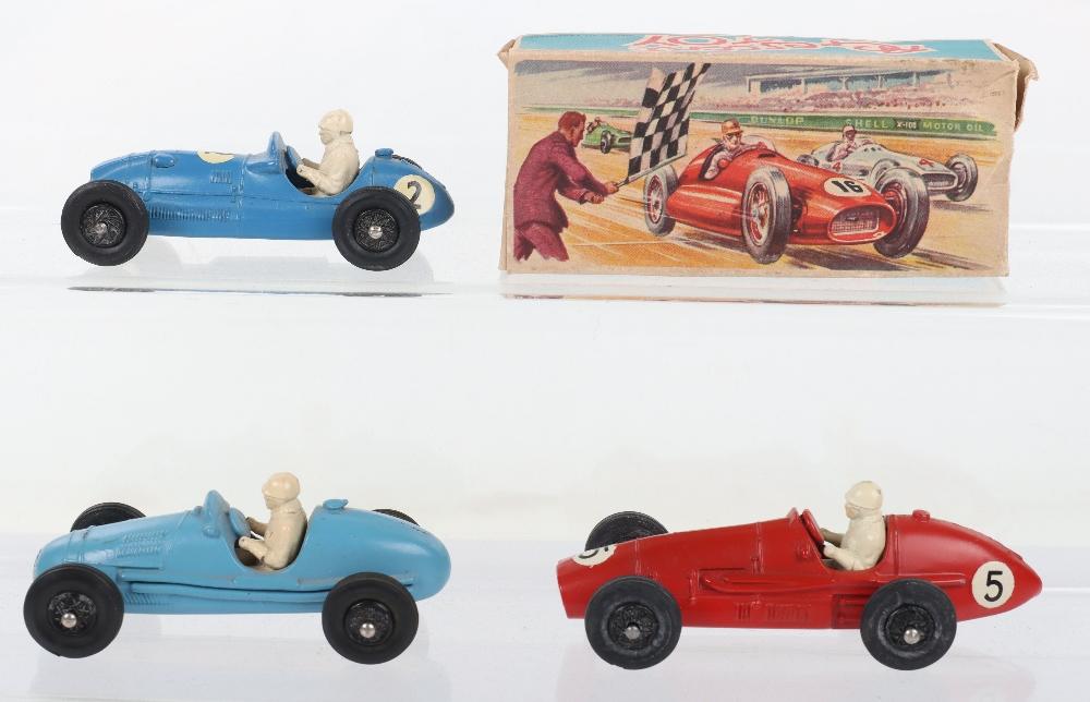 Three Crescent Toys Racing Cars