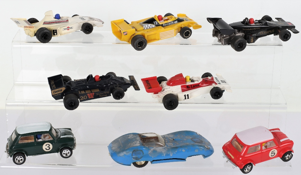 Eight Unboxed Hornby Hobbies Scalextric Slot Cars - Image 2 of 4