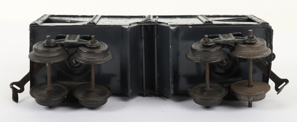 Scarce Bing gauge 0 'Penna. Coal & Coke Co.' eight-wheel bogie wagon, German circa 1914 - Image 4 of 4