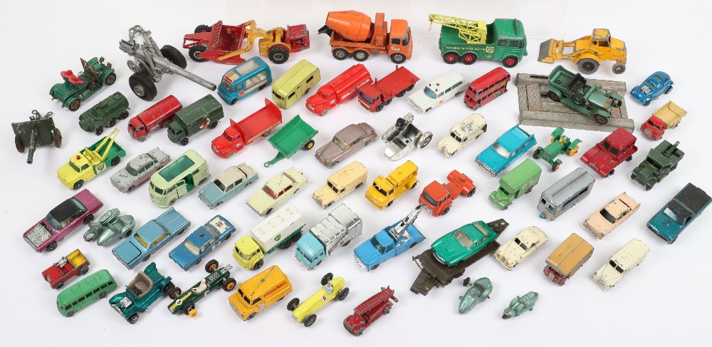 Large Quantity of Playworn Matchbox/Hotwheels mixed diecast toys, - Image 3 of 3