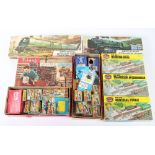 Merit boxed and carded 00/HO gauge station and track side accessories