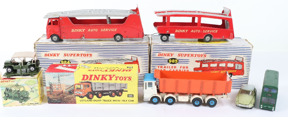 Dinky Toys Boxed 984 Car Carrier and 985 Trailer