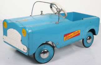 A Leeway pressed steel child's Alpine Rally pedal car, English 1950s