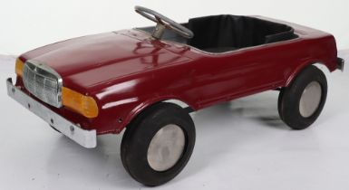 A Mercedes 500SEC Sports pressed metal child's pedal car, probably English 1970s