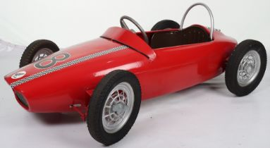 A scarce M & G (Morellett & Guerineae) Honda child's motor racing pedal car, French circa 1970