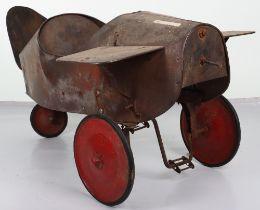 A rare, pressed steel child's pedal Mono-plane, 1920s