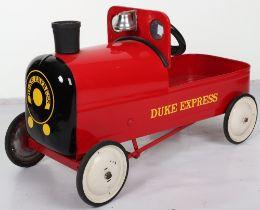 Tri-ang 'The Duke Express' child's pedal train, English circa 1960