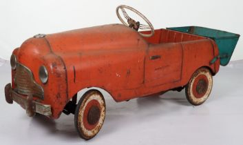 A scarce Tri-ang Commercial pressed steel child's pedal Tipper Truck, English 1950s,