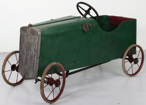 A Lines Bro Ltd wooden child's pedal car, English 1920s